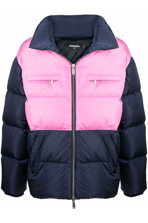 Dsquared2 Muži Péřové bundy - Contrast-panel puffer coat