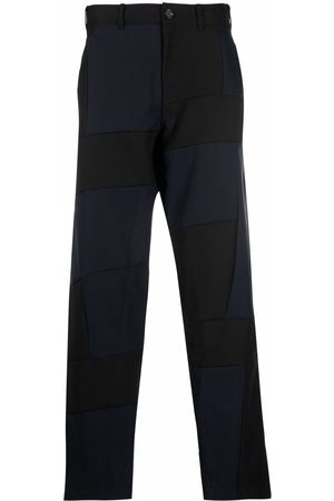 Comme des Garçons Muži Široké nohavice - Patch-work wide-leg trousers