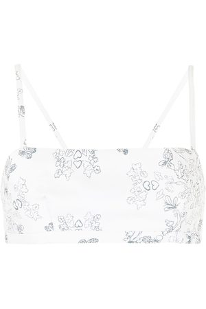 Macgraw Abbey printed crop top