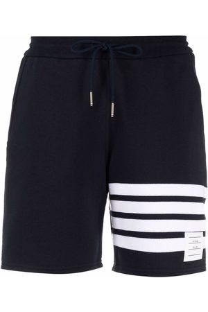 Thom Browne Four-bar stripe track shorts