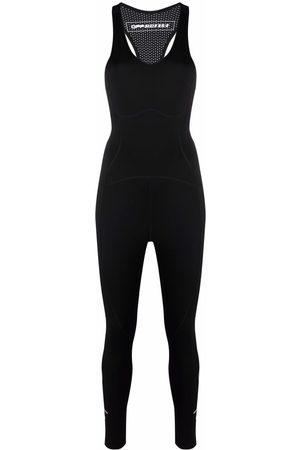OFF-WHITE Ženy Overaly dlouhé - ACTIVE LOGO JUMPSUIT BLACK WHITE