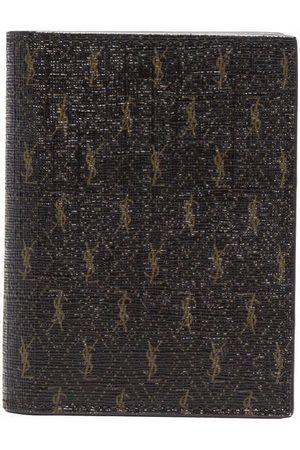 Saint Laurent Muži Peněženky - Monogram print leather wallet