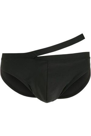 AMIR SLAMA Muži Šortky - Tonal-stitching cutout swimming trunks