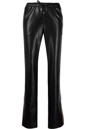 ERMANNO SCERVINO Ženy Tepláky - Leather track trousers