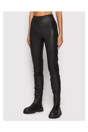 REMAIN Ženy Kožené kalhoty - Kožené kalhoty