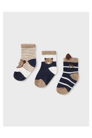 Mayoral Chlapci Ponožky - Sada 3 párů dětských vysokých ponožek