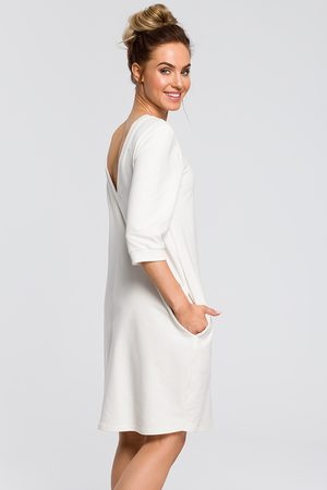 MOE Smetanové šaty M417