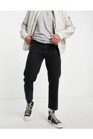 Religion Muži Rovné nohavice - Straight cropped rigid jeans in vintage black