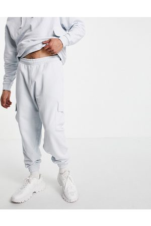ASOS Co-ord oversized joggers with cargo pockets in blue