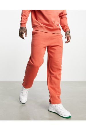 ASOS Muži Tepláky - Co-ord straight leg jersey joggers in red