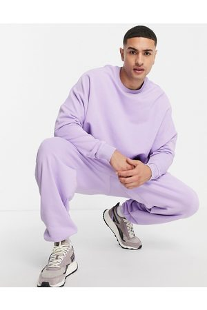ASOS Co-ord super oversized joggers in lilac-Purple