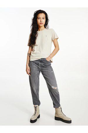 Tommy Hilfiger Ženy Trička - Dámské béžové tričko Jersey