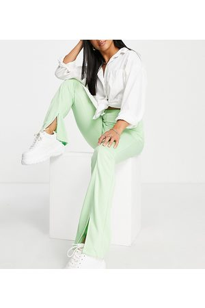 ASOS Ženy Úzké nohavice - ASOS DESIGN Petite high waisted stretch skinny trouser with split front in pistachio-Green