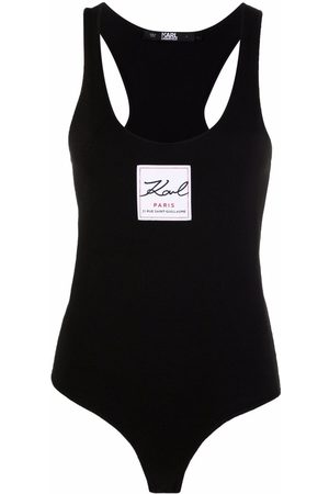 Karl Lagerfeld Logo-patch sleeveless bodysuit