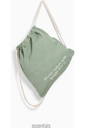 Zara Bavlněná kabelka s potiskem
