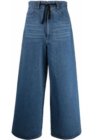 Ami Belted wide-leg jeans