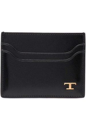 Tod's Logo-plaque leather cardholder