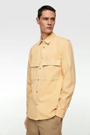 Zara Barevná džínová svrchní košile