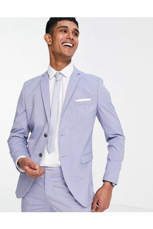 SELECTED Muži Saka - Slim fit suit jacket in light blue-Purple