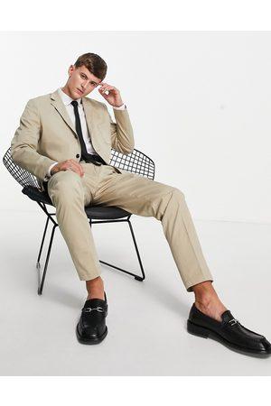 SELECTED Muži Saka - Slim fit suit jacket in beige-Neutral