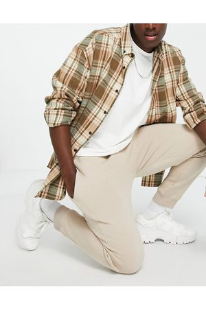 Topman Muži Tepláky - Co-ord joggers in stone-Neutral