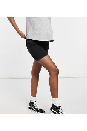 Cotton On Ženy Bermudy - Overbump stretch denim bermuda short in black