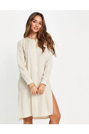 SELECTED Ženy Volnočasové - Tammy tunic shirt dress in cream-Neutral