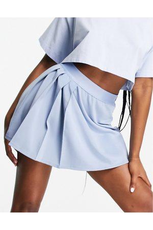 PUMA Ženy Krátké - Classics asymmetric tennis skirt in blue