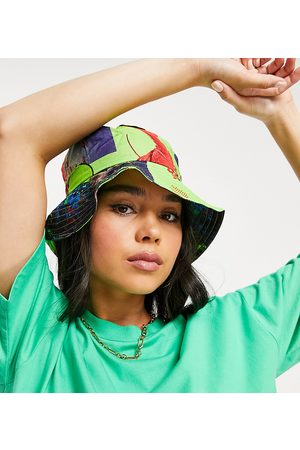 Collusion Ženy Klobouky - Bucket hat in neon photographic print-Green