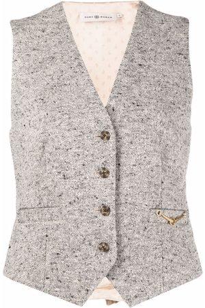 Tory Burch Ženy Společenské vesty - Tweed horse-bit waistcoat
