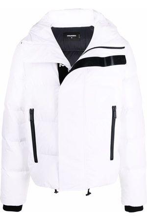 Dsquared2 Muži Péřové bundy - Logo-strap padded jacket