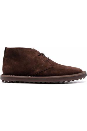 Tod's Muži Kotníkové - Lace-up suede ankle boots