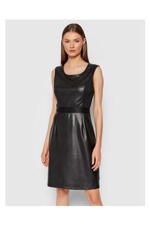 Calvin Klein Šaty z imitace kůže