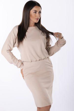 Ex moda Ženy Sukně & Šaty - Béžový komplet top + sukně M85002