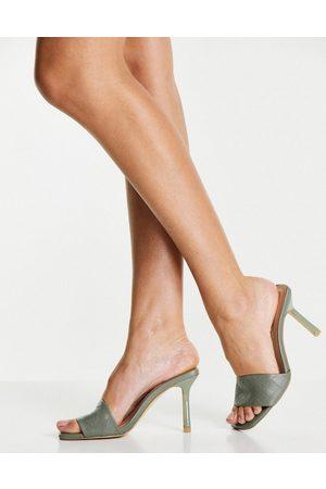 New Look Ženy S otevřenou špičkou - Heeled mule in dark khaki-Green