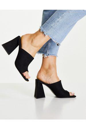 ASOS Ženy S otevřenou špičkou - Nyla heeled mules in black