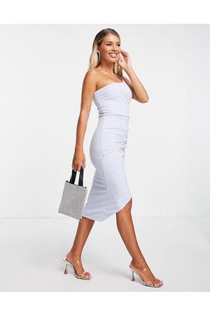 Ax Paris Ženy Přiléhavé - One shoulder bodycon dress in light blue