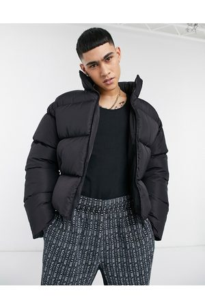 ASOS Sustainable cropped puffer jacket in black
