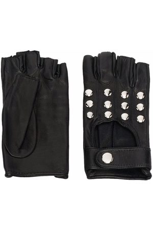 Manokhi Silver-studded leather gloves