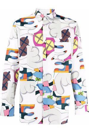 Comme des Garçons Muži S dlouhým rukávem - Graphic-print cotton shirt