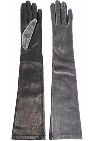 Manokhi Panelled suede gloves
