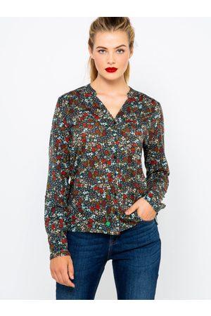 Camaïeu Černá květovaná košile