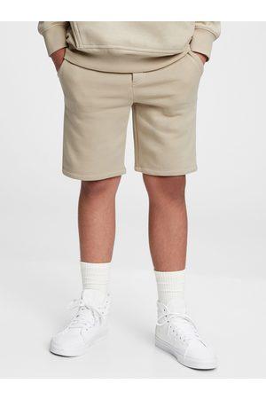 GAP Béžové klučičí dětské kraťasy fleece pull-on shorts