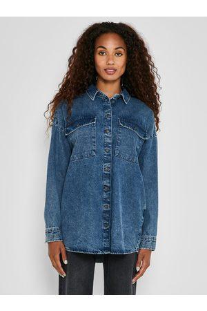 Noisy May Volná džínová košile Flanny