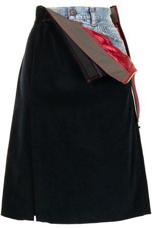 Kolor Layered a-line skirt