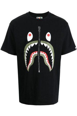A Bathing Ape Shark-print cotton T-shirt