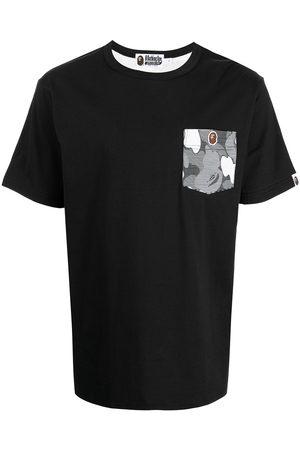 A Bathing Ape Muži S krátkým rukávem - Shark camouflage-print cotton T-shirt