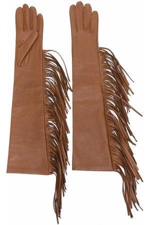 Manokhi Fringed detail gloves