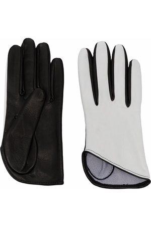 Manokhi Two-tone leather gloves