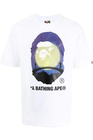 A Bathing Ape Muži S krátkým rukávem - Logo graphic-print cotton T-shirt